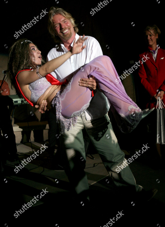 Richard Branson belly dancer Al Hadeerah Hotel Editorial Stock Photo