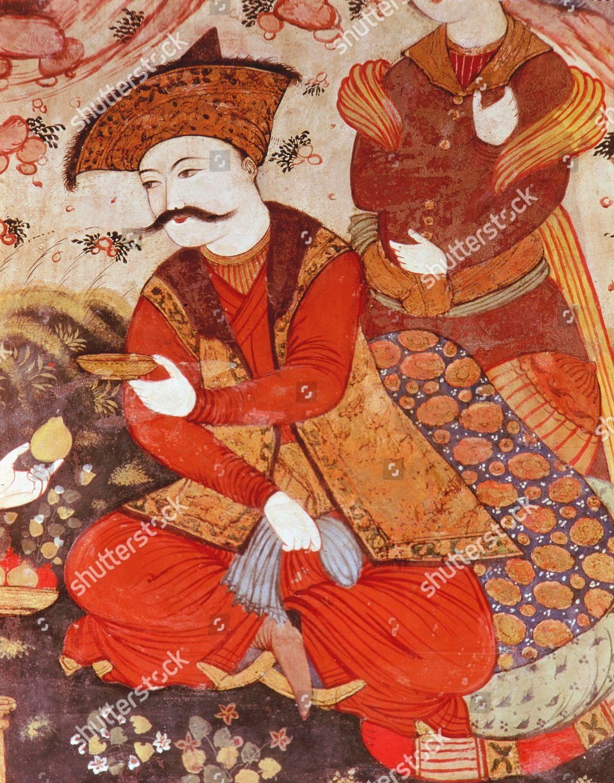 ABBAS I 15711629 Safavid Shah Persia detail Editorial Stock Photo
