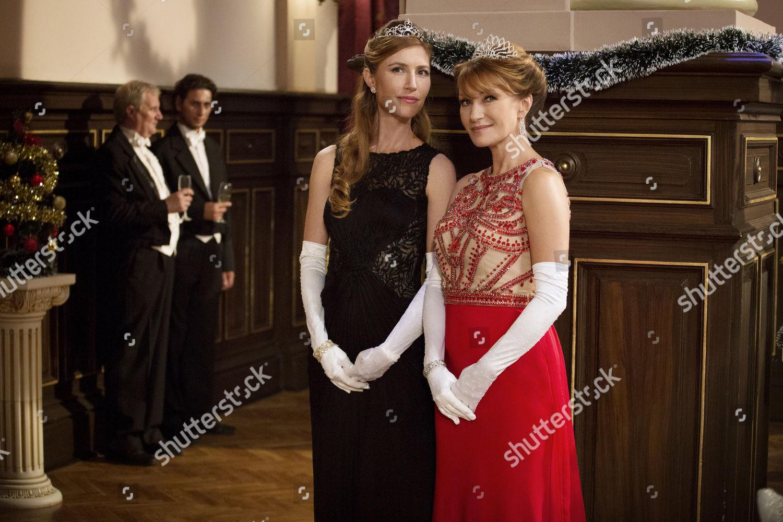 A Royal Christmas Ball.Katherine Flynn Jane Seymour Editorial Stock Photo Stock