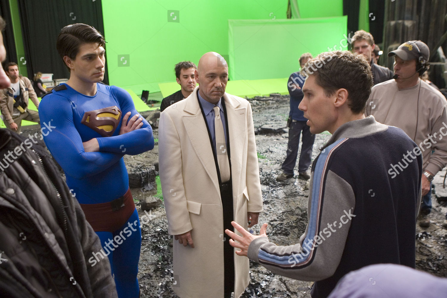Brandon Routh Kevin Spacey Bryan Singer Editorial Stock