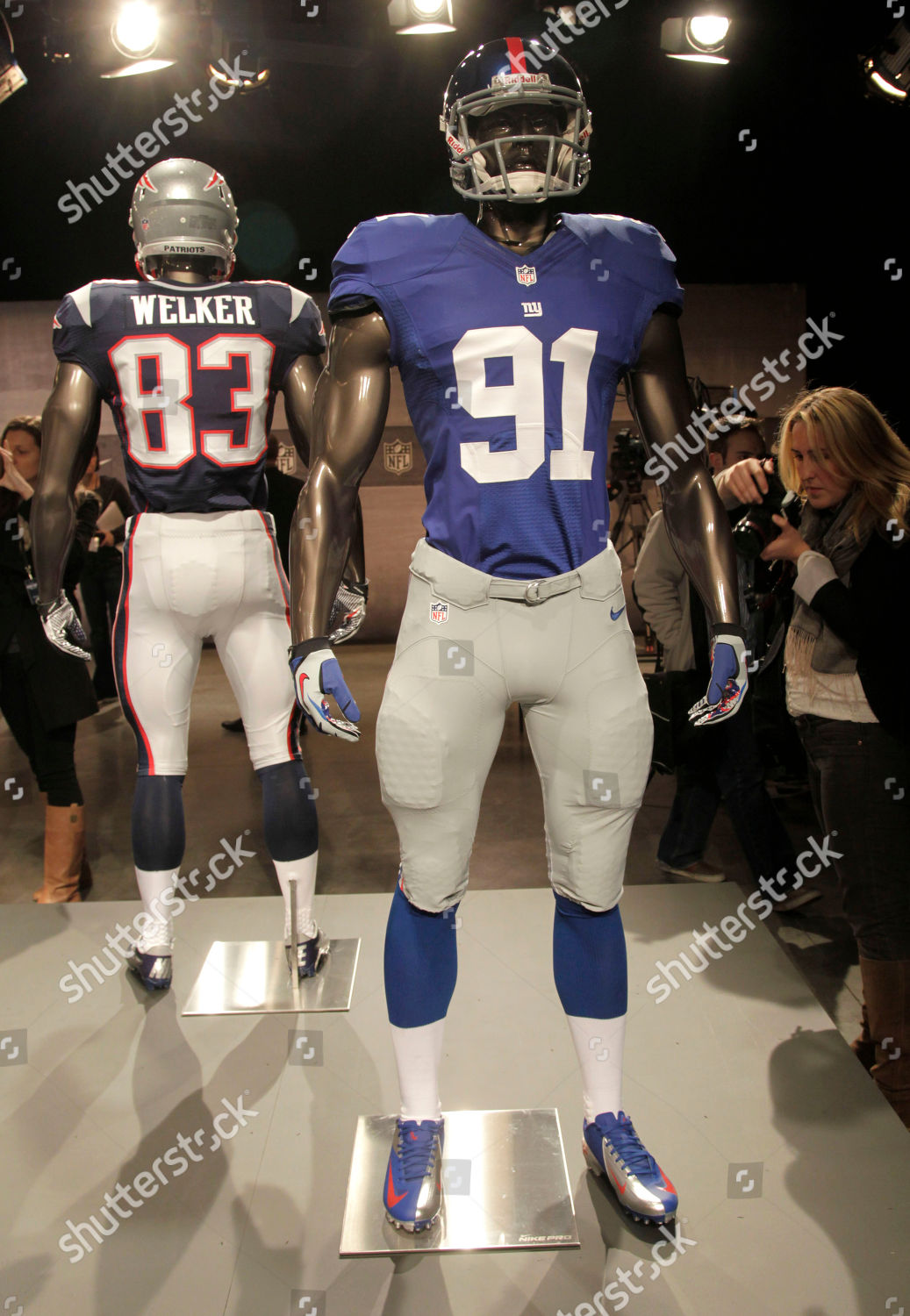 46e05a0b938 NFL Uniforms Football, New York, USA Stock Image by Seth Wenig for editorial  use, Apr 3, 2012