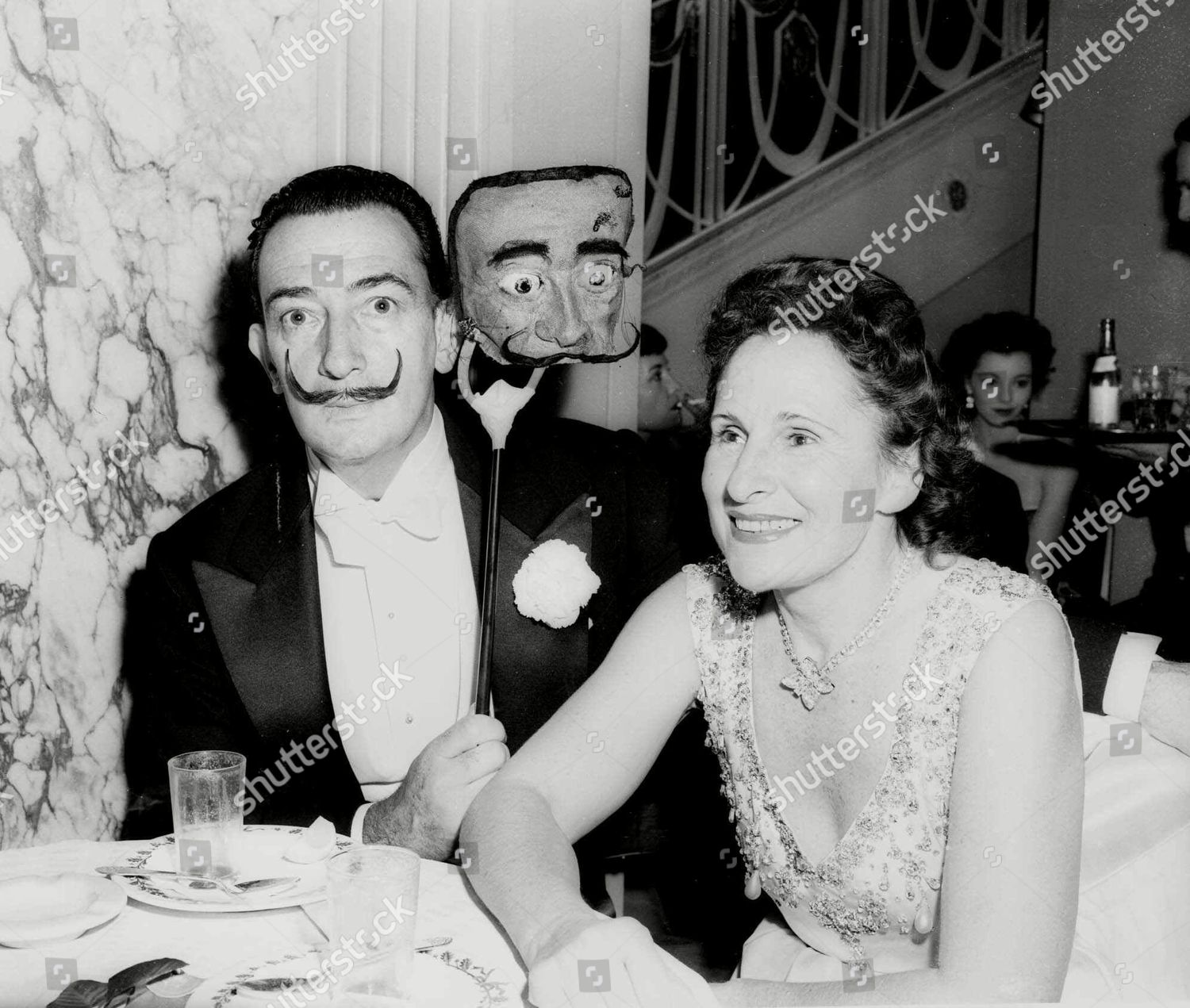 WIFE Mrs Salvador Dali smiles she poses Editorial Stock Photo