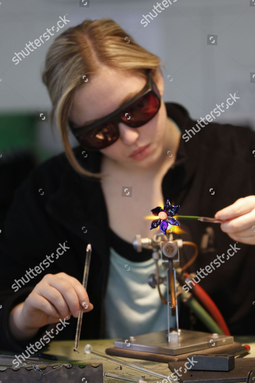 Editorial Stock Photo of Zara Taylor Zara Taylor works on glass ... b12db42e2ed