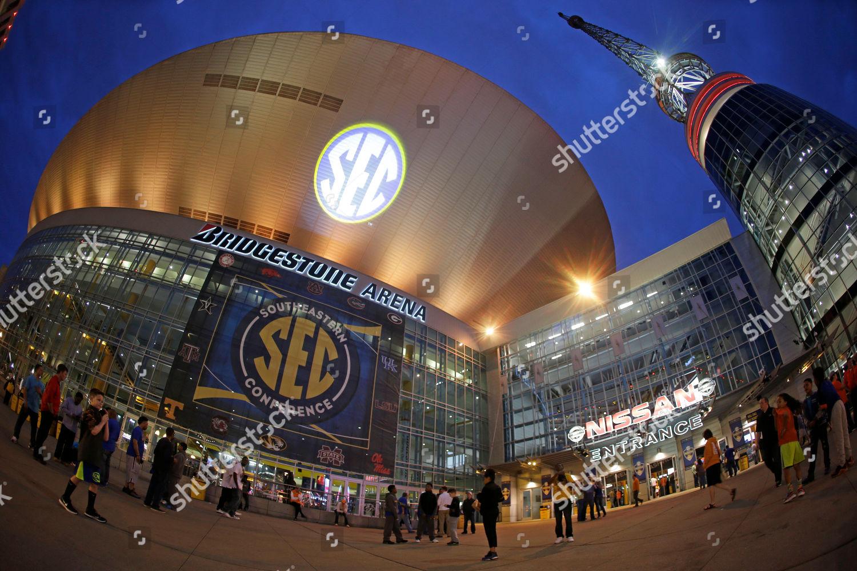 Fisheye Lens Fans Arrive Bridgestone Arena Before Editorial