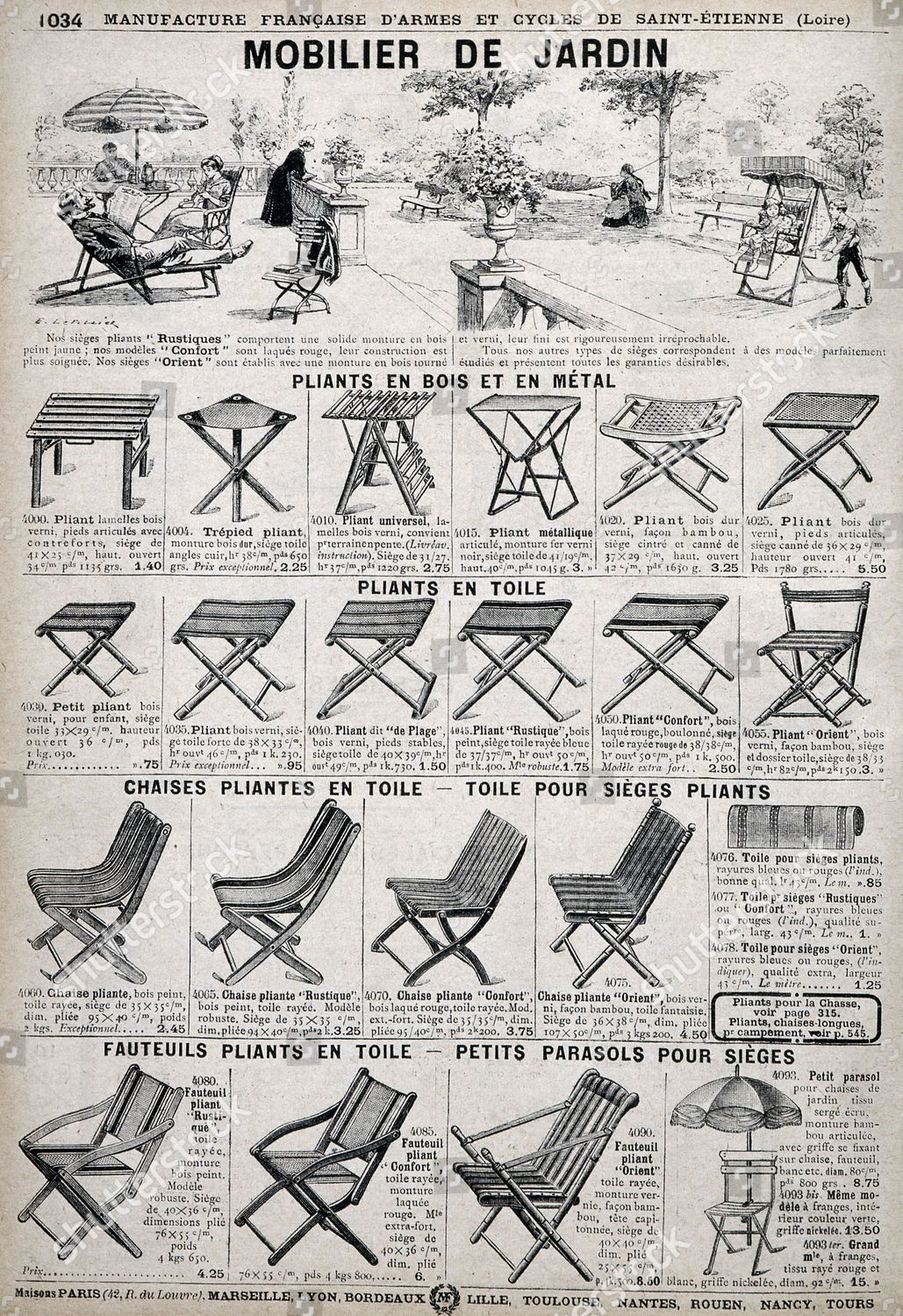 Garden furniture Page Manufacture dArmes et Cycles Editorial ...