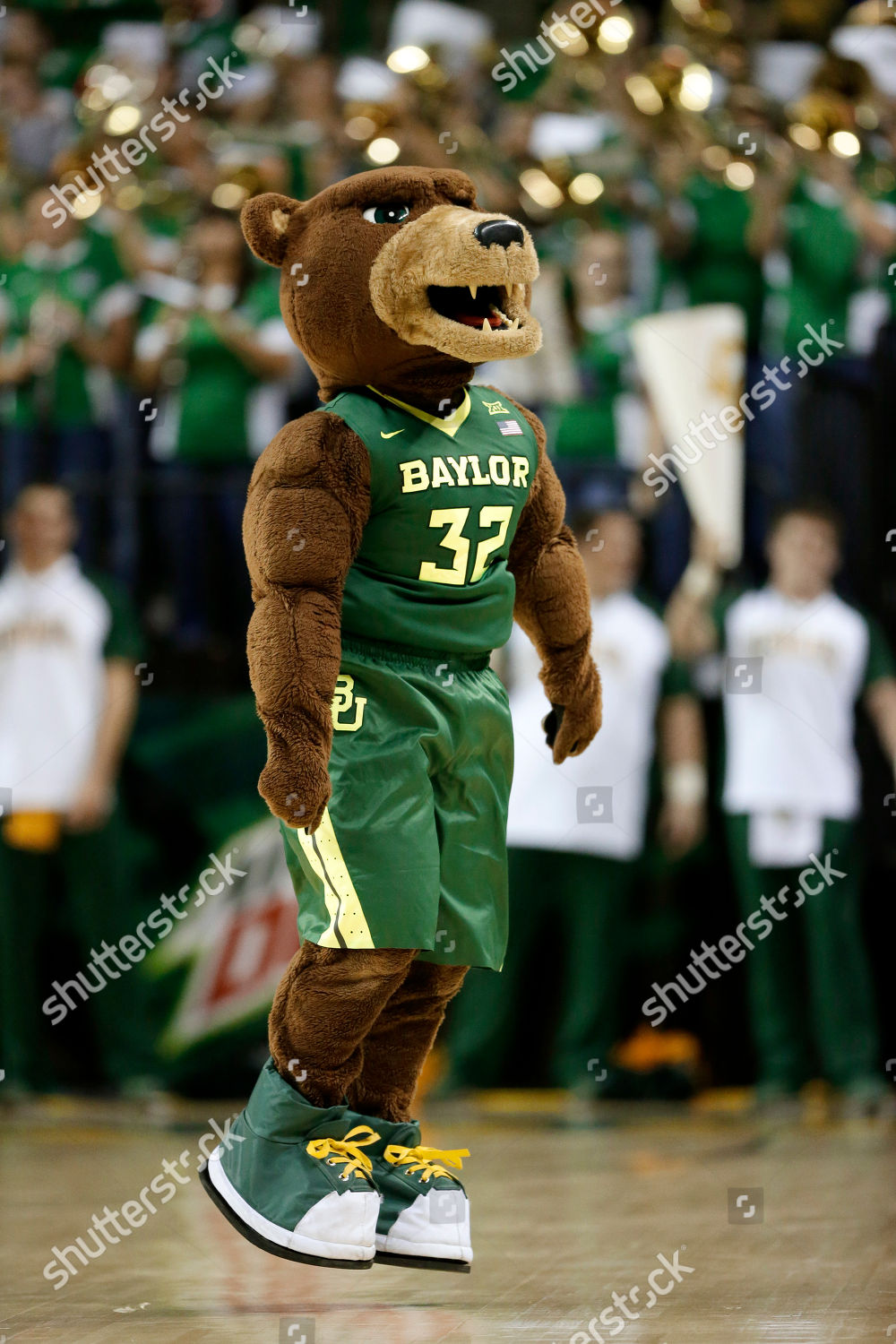 Editorial Stock Photo Of Bruiser Baylor Mascot Bruiser Motivates
