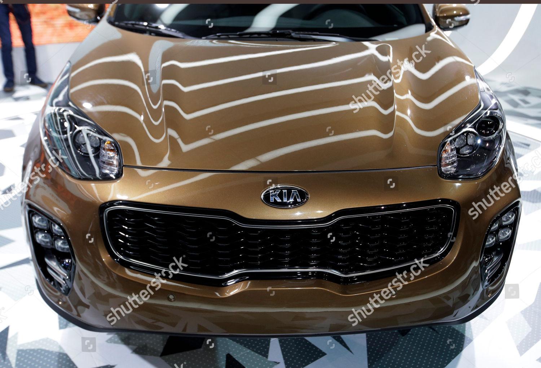 Kia Los Angeles >> 2017 Kia Sportage Shown Los Angeles Auto Editorial Stock