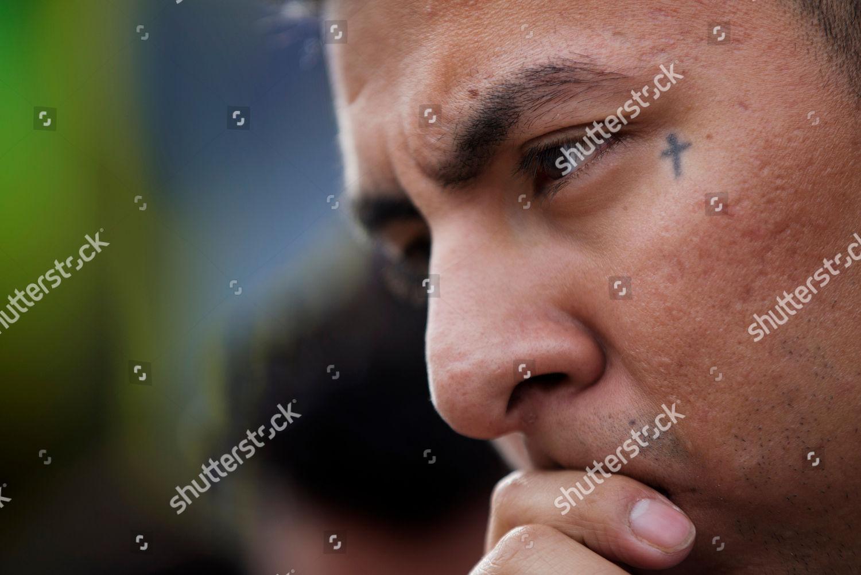 Junior Jimenez Tattoo Cross Decorates Corner Eye Editorial