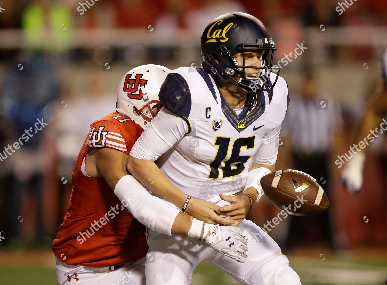 super popular 1644d acfd6 Kylie Fitts Jared Goff Utah defensive end Editorial Stock ...