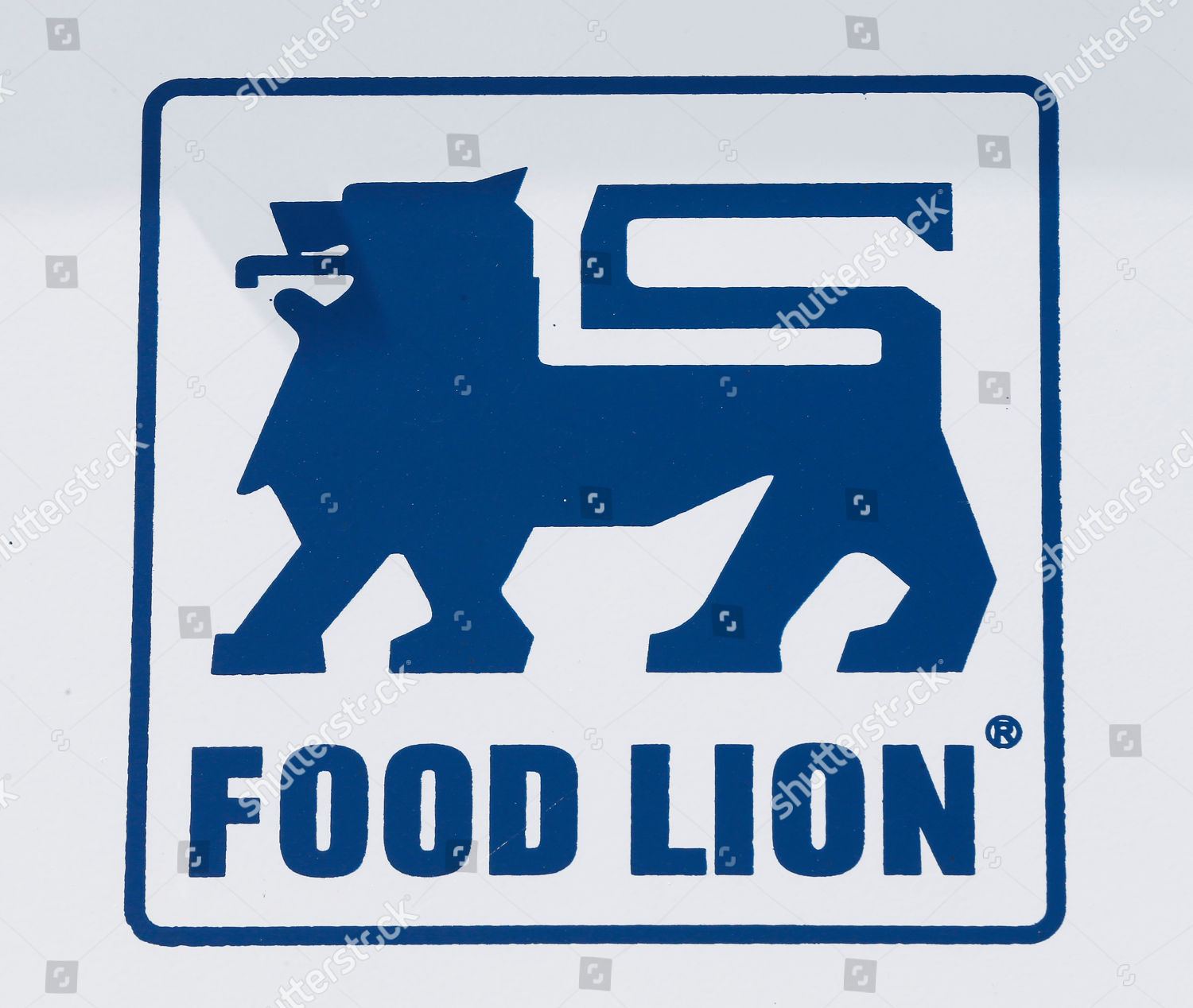Food Lion grocery store logo on display Editorial Stock
