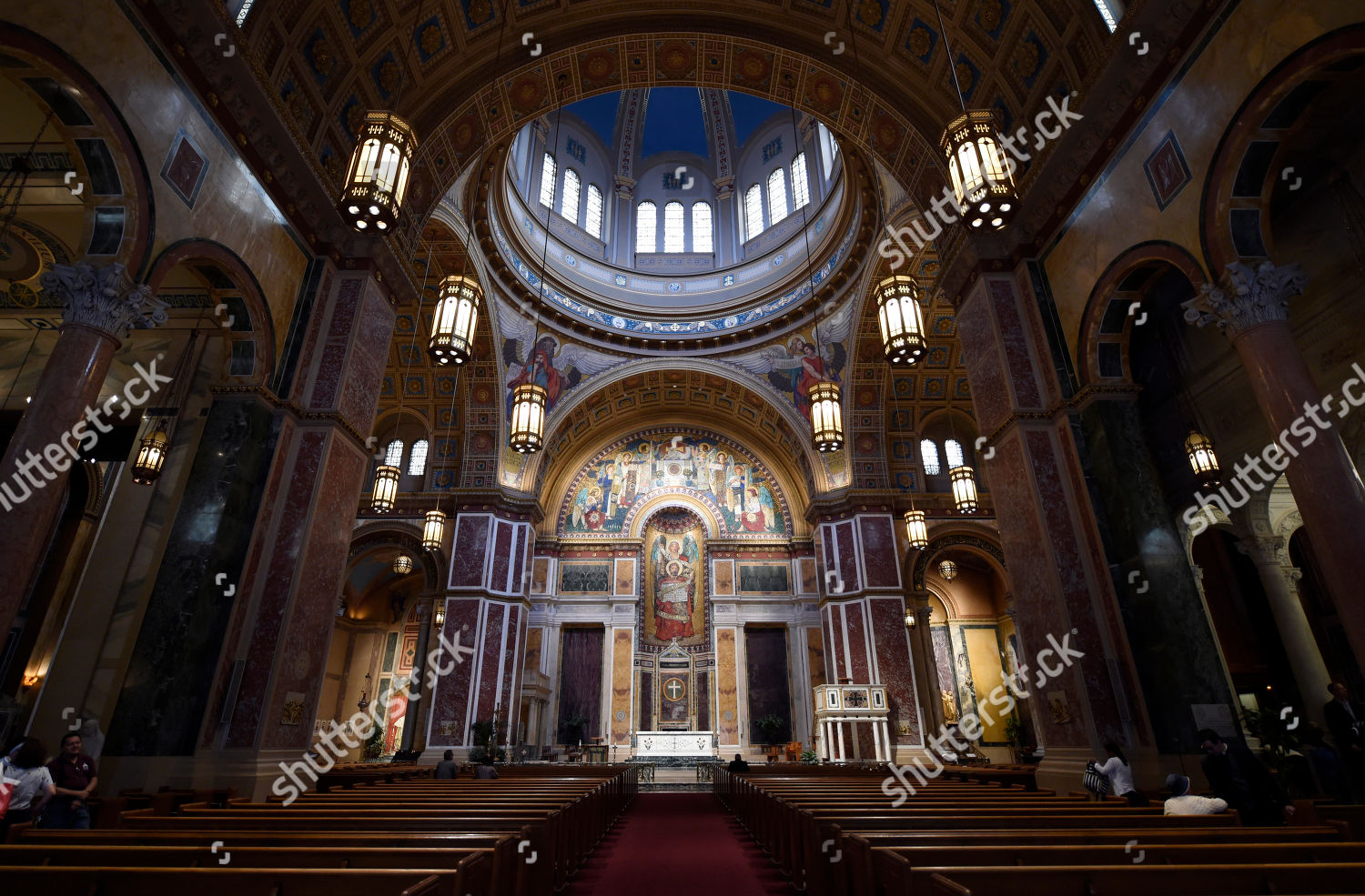 Cathedral St Matthew Apostle interior Cathedral St Editorial Stock