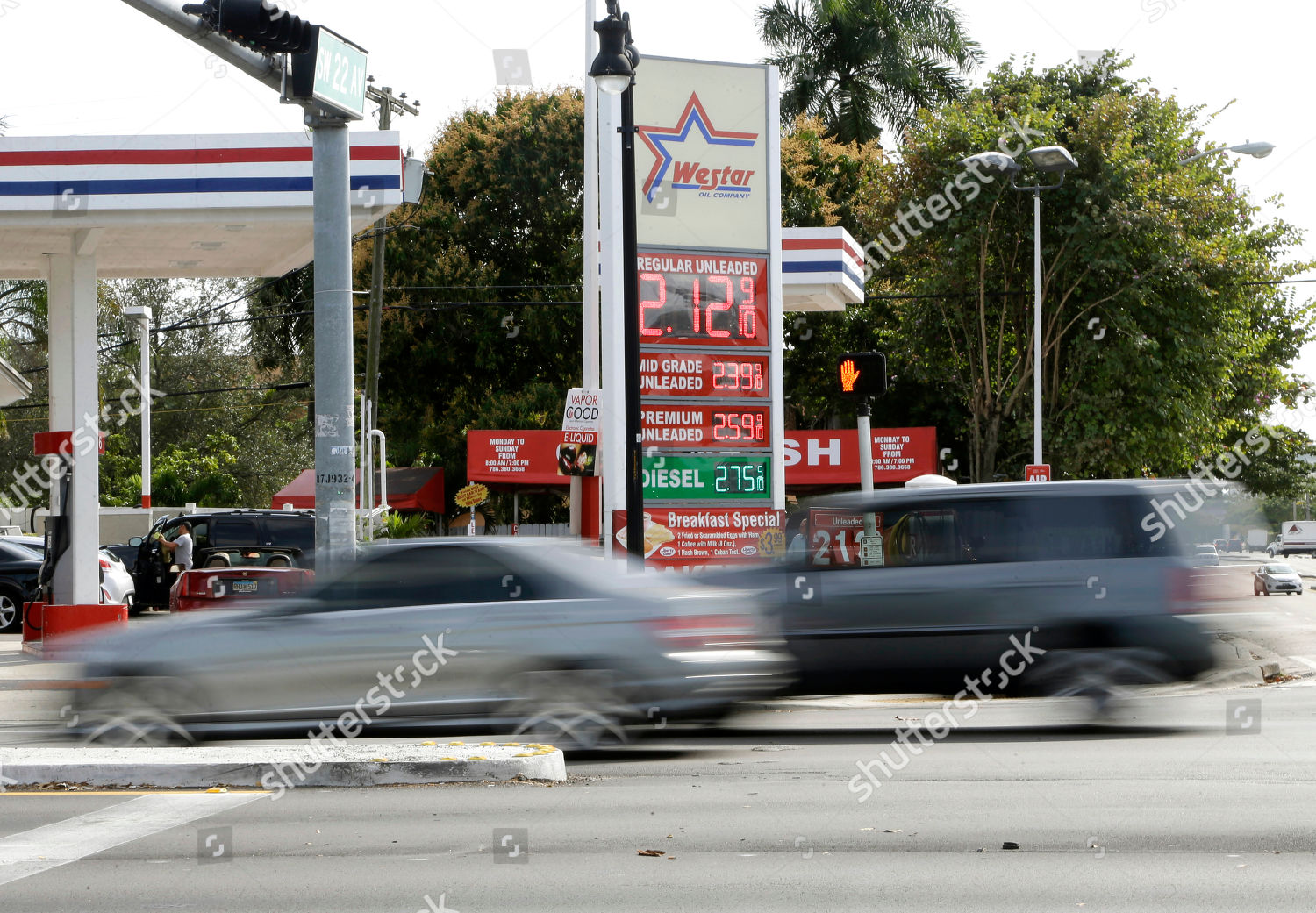Miami Gas Prices >> Gasoline Prices Displayed Westar Gas Station Miami Editorial