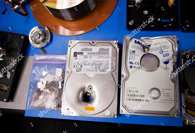 Hard drives bullet holes displayed Defense Computer