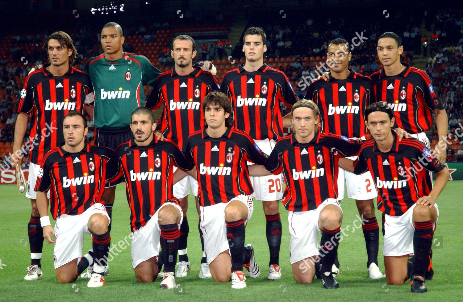 Ac Milan Team Line Backrow Lr Paolo Editorial Stock Photo Stock Image Shutterstock