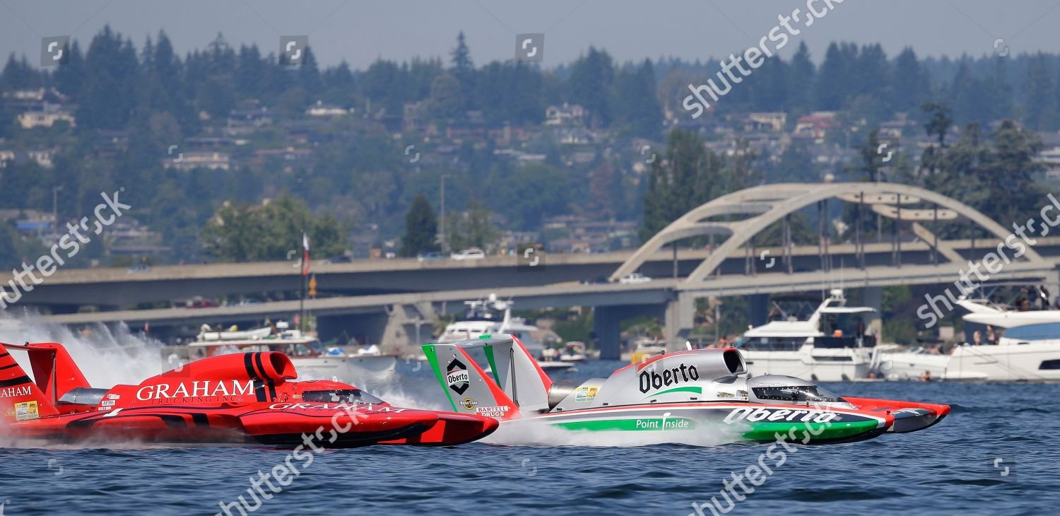 Oberto H1 Unlimited Hydroplane driven by Jimmy Editorial Stock Photo