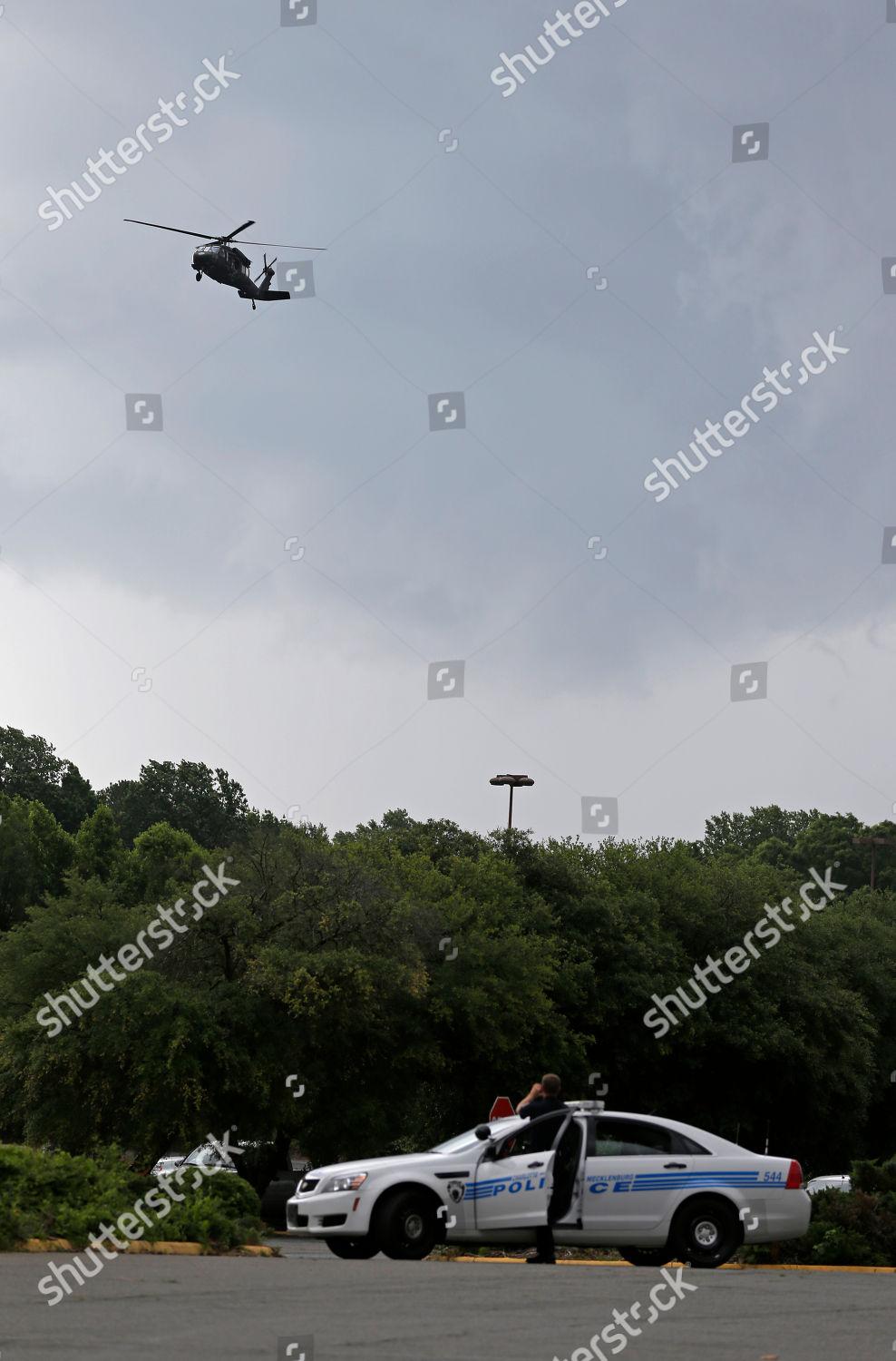 North Carolina National Guard Blackhawk helicopter carrying