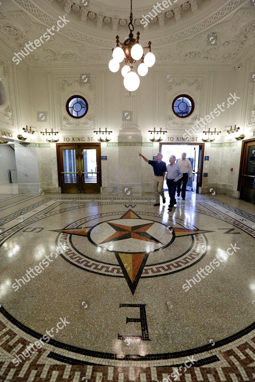 Visitors Walk Onto Restored Terrazzo Floor Inlaid Editorial