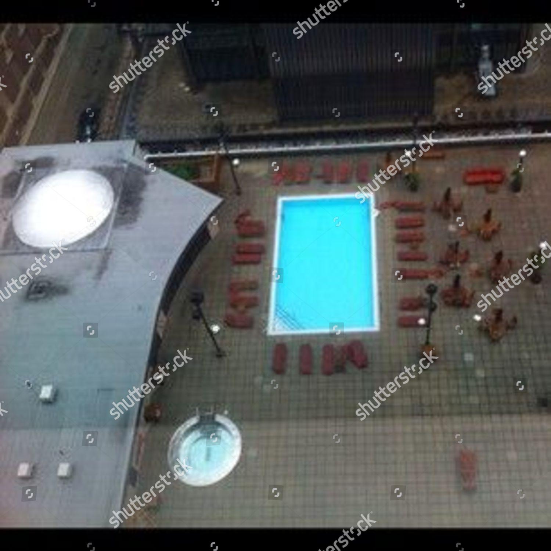 Columbus hotel pool aponthetrail Editorial Stock Photo - Stock Image