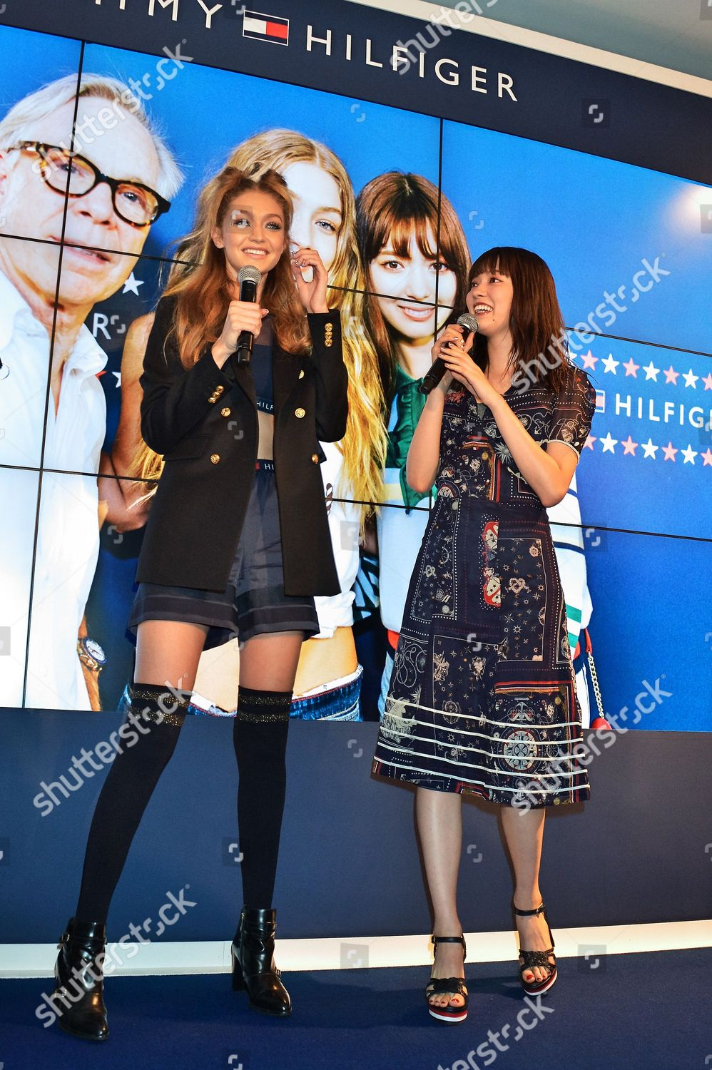 Stock photo of 'Tommy X GiGi' collection launch, Tokyo, Japan - 12 Oct 2016