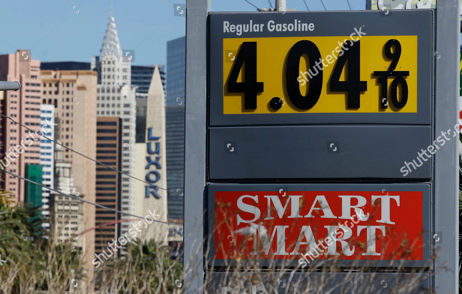 Las Vegas Gas Prices >> Gasoline Prices More Than 4 Seen Gas Editorial Stock Photo Stock