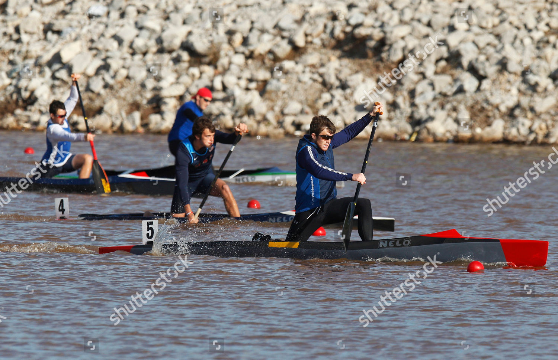 Robert Finlayson front paddles win mens canoe Editorial