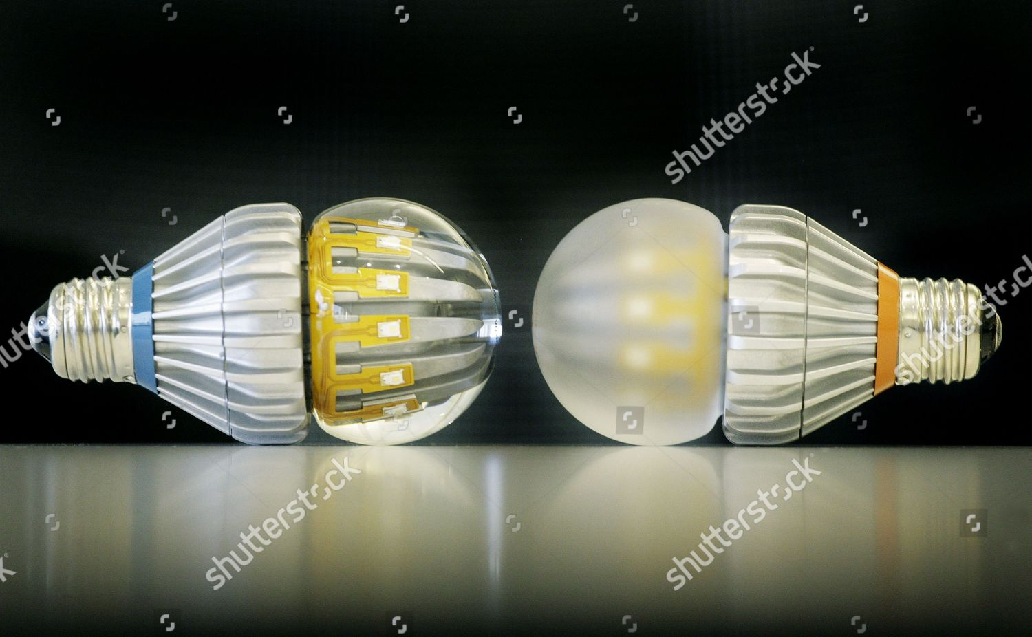 Switch75 light bulbs clear frosted shown New Editorial Stock Photo