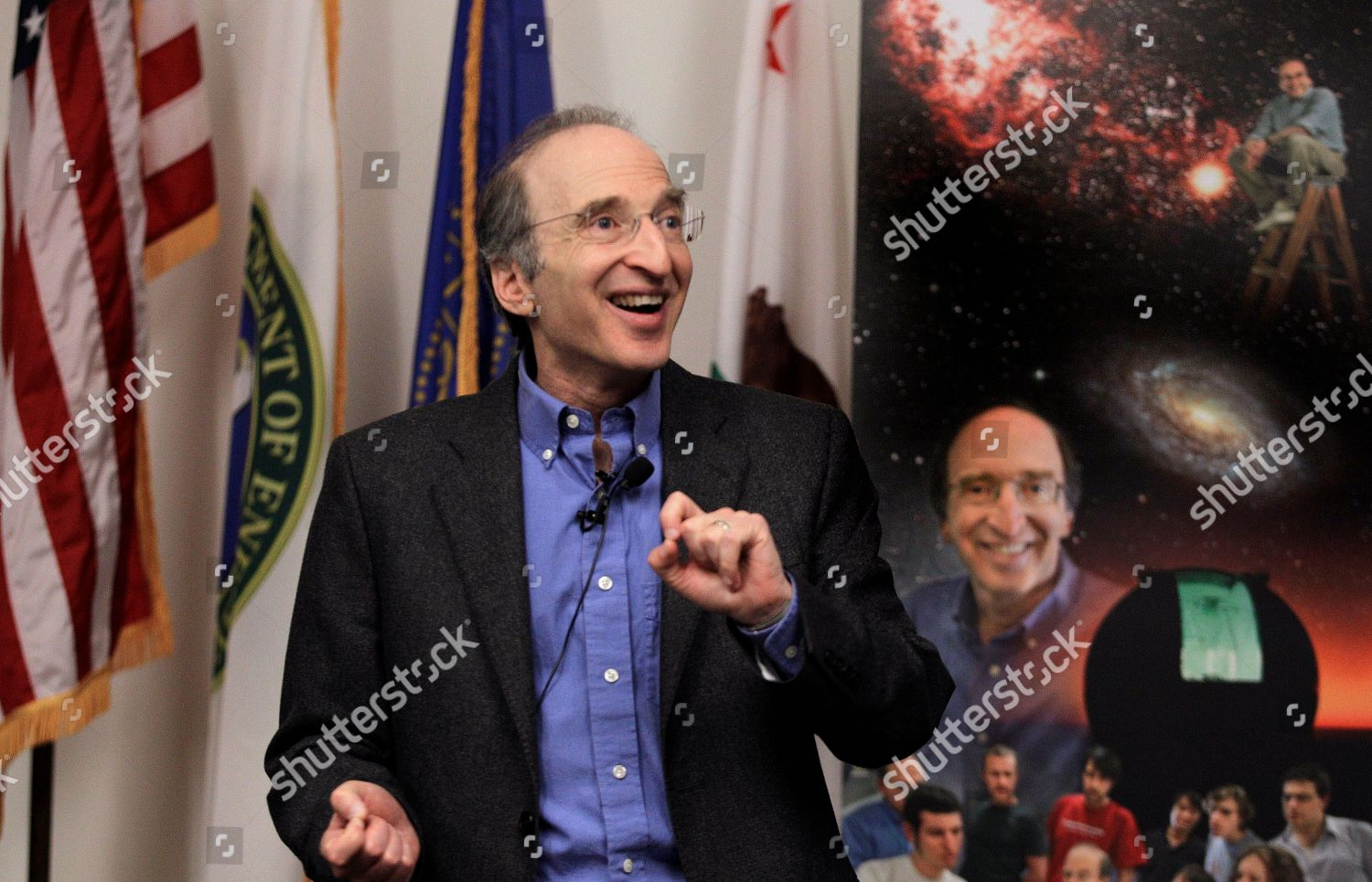 Stock photo of Nobel Prize Perlmutter, Berkeley, USA