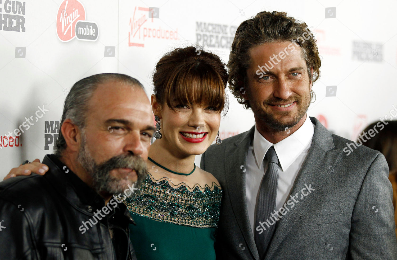 Gerard Butler Sam Childers Michelle Monaghan Cast Editorial Stock