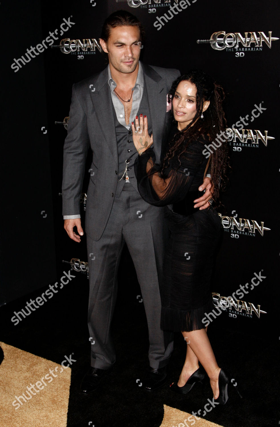 Jason Momoa Lisa Bonet Cast member Jason Editorial Stock
