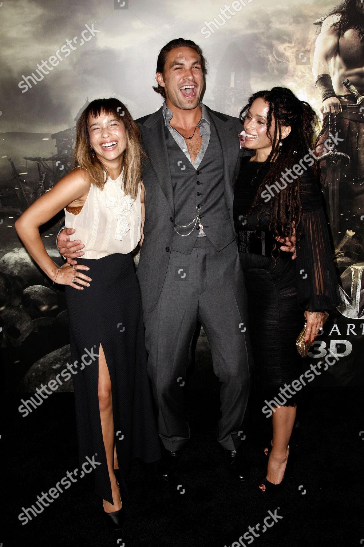 Jason Momoa Lisa Bonet Zoe Kravitz Cast Editorial Stock