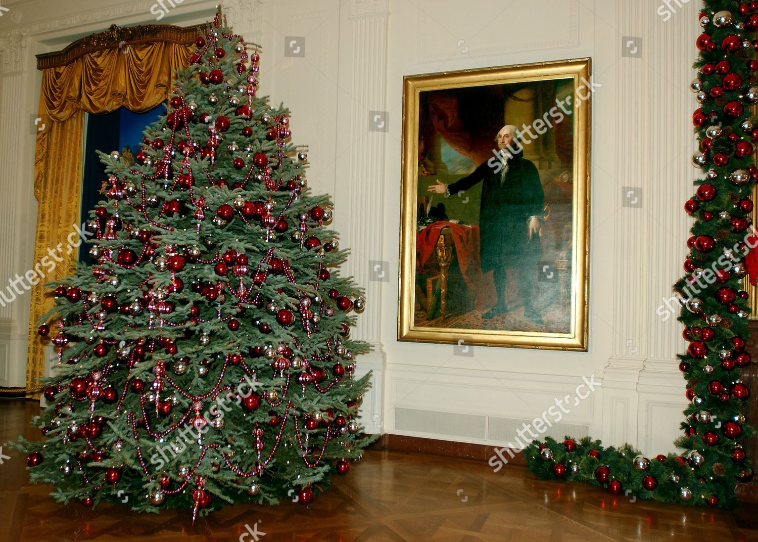 Stock Photo Of White House Christmas Decorations In Washington DC America