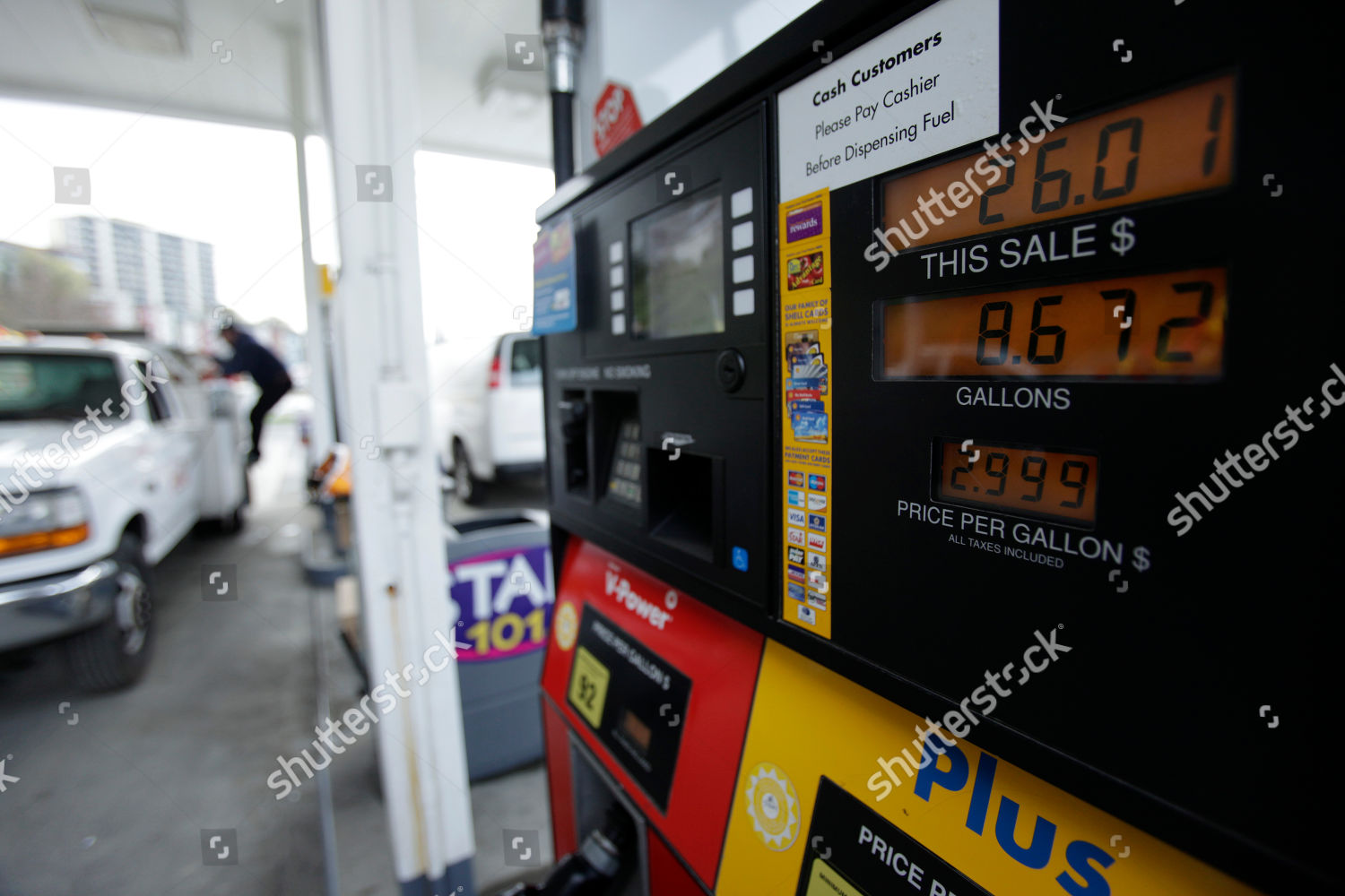 Gas Prices Seattle >> Gas Shown 299 Gallon Shell Gas Station Editorial Stock Photo