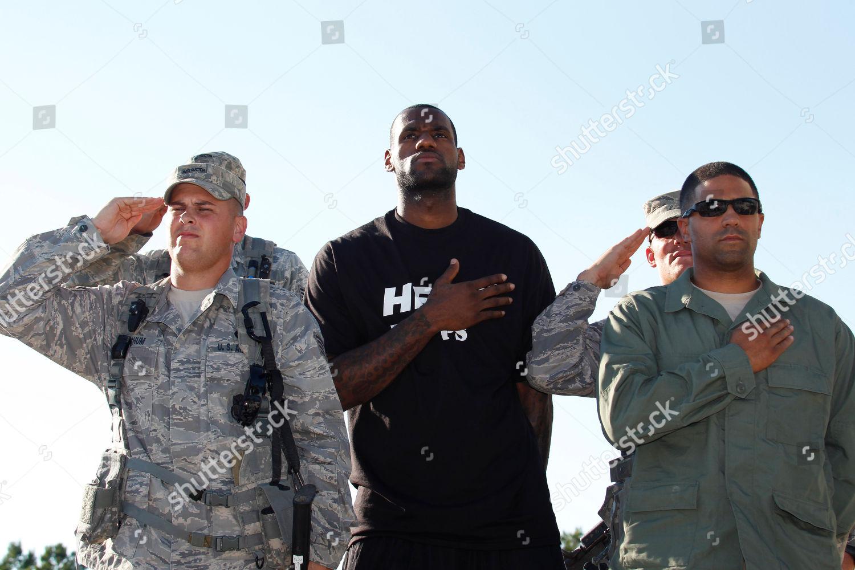 LeBron James Miami Heats LeBron James center Editorial Stock Photo