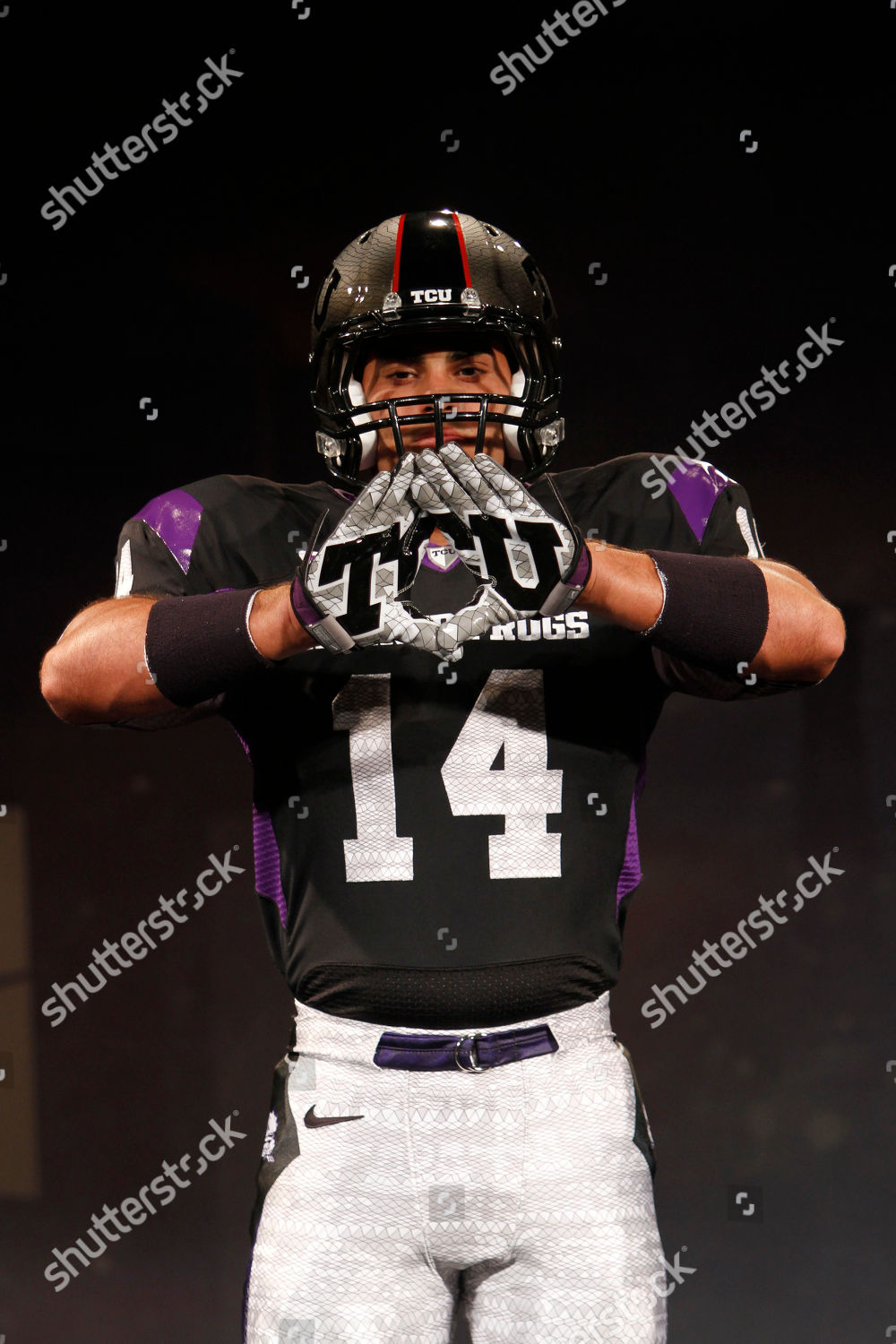 861c700da model wears new TCU Nike football uniform Editorial Stock Photo ...