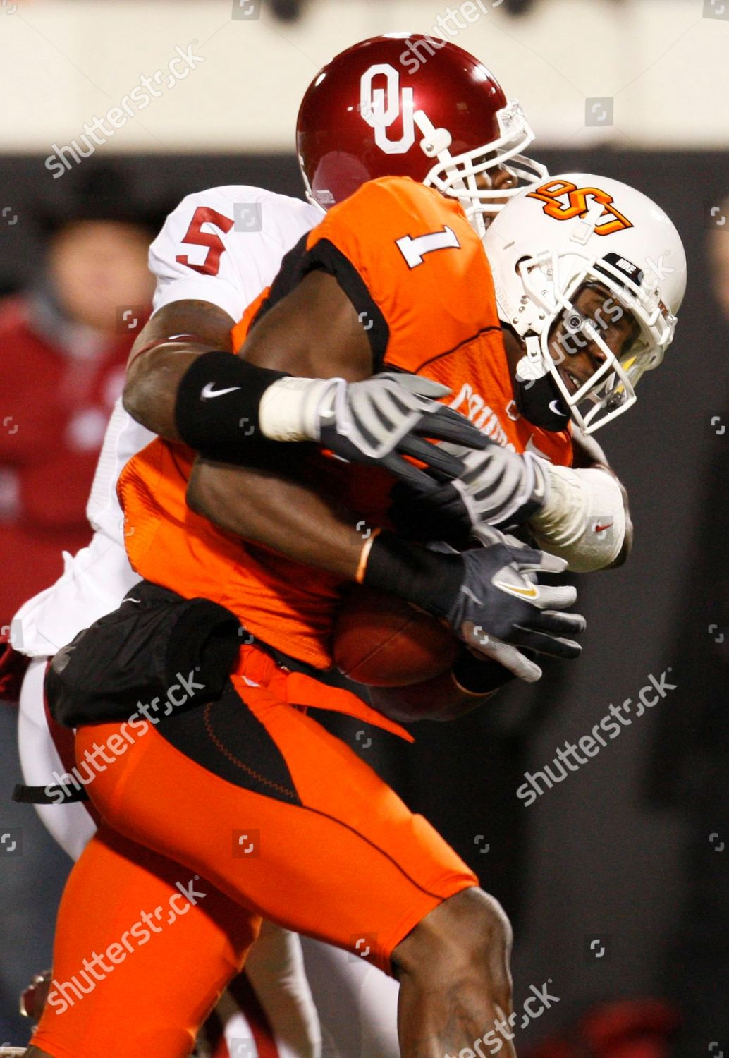 Dez Bryant Nic Harris Oklahoma State Wide Editorial Stock