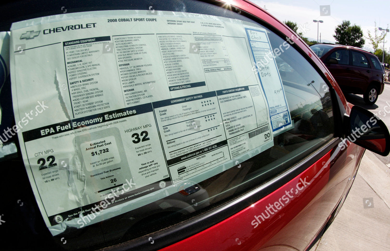 Maroney Auto Sales >> Mileage Figures Stand Out On Maroney Label Editorial Stock