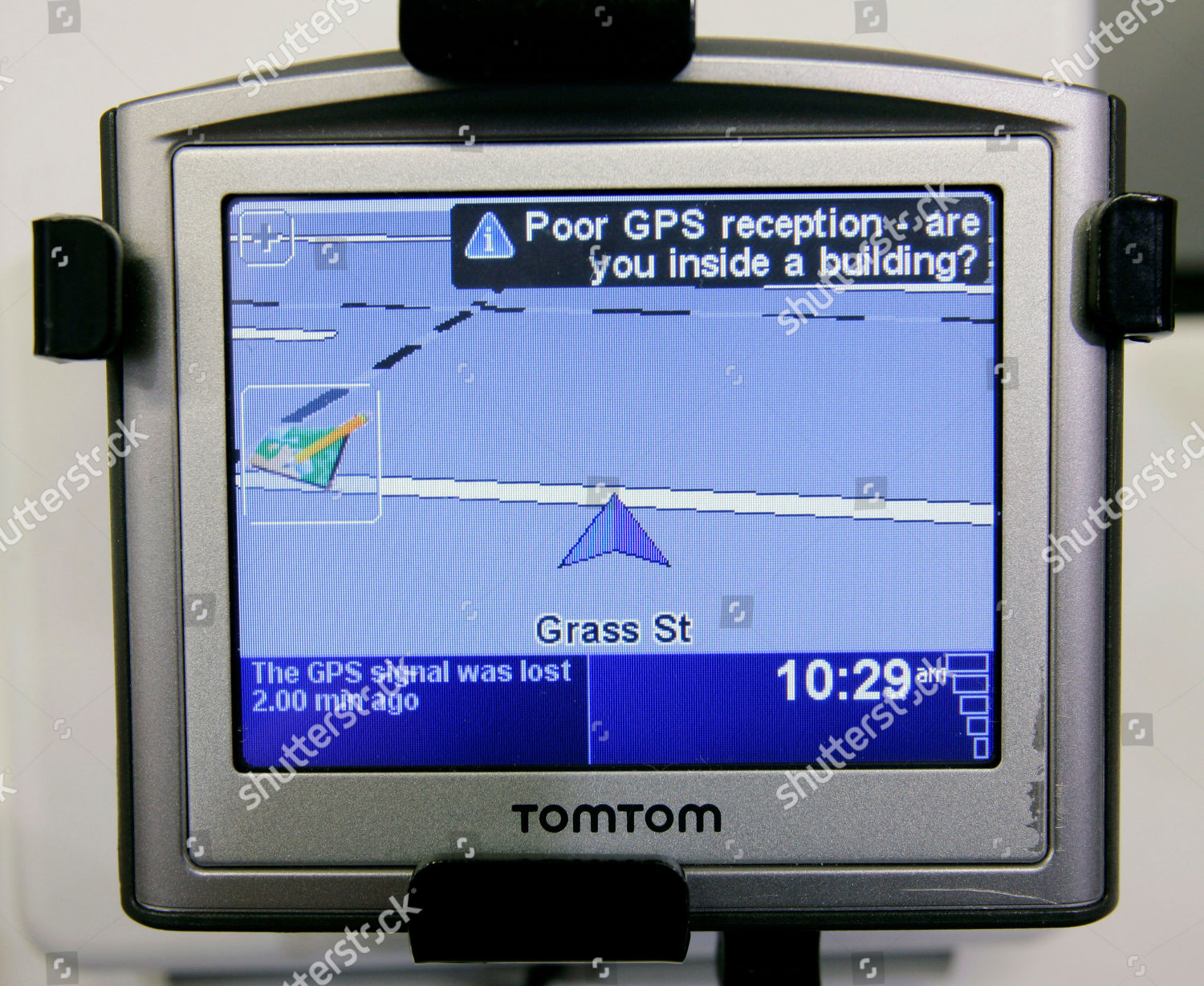 TomTom TomTom GPS device displayed Best Buy Editorial Stock