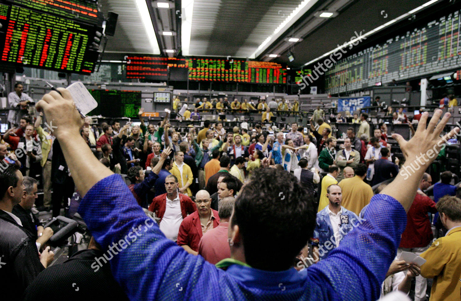Traders Sp 500 Futures Trading Pit Watch Editorial Stock Photo
