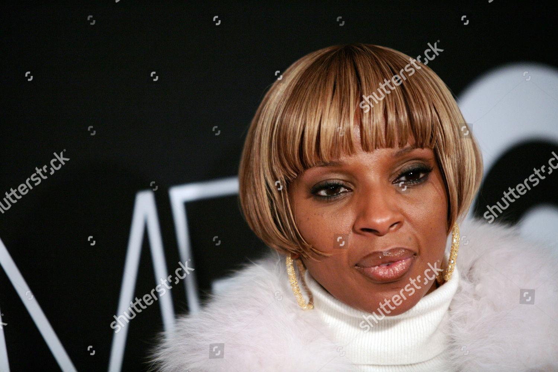 Mary J Blige Recording artist Mary J Foto editorial en stock