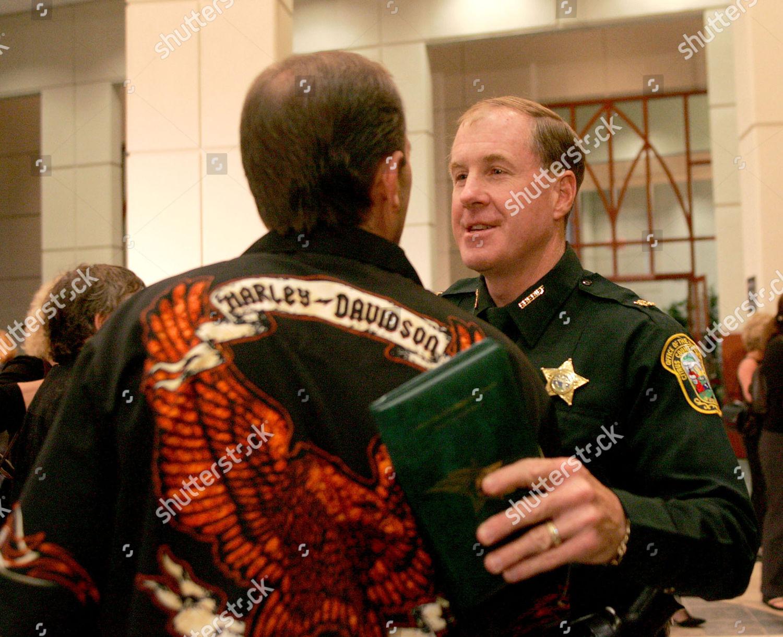 Citrus County Sheriff Jeff Dawsy right greets Editorial