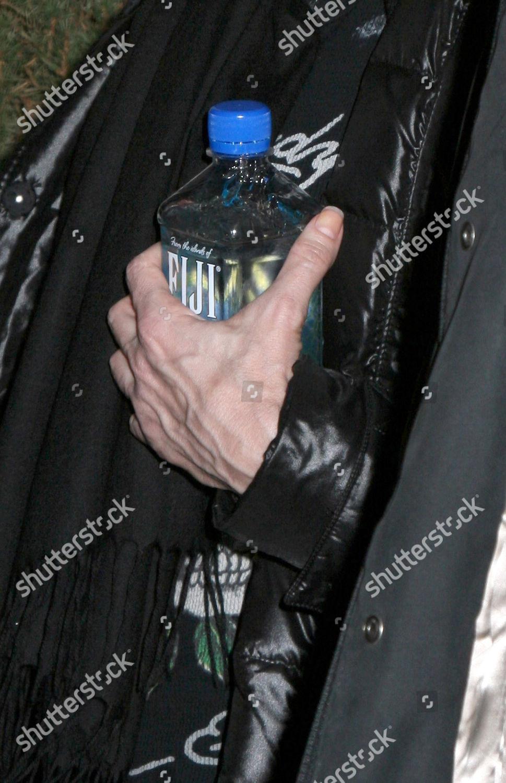 Madonna Holding Bottle Fiji Water Editorial Stock Photo
