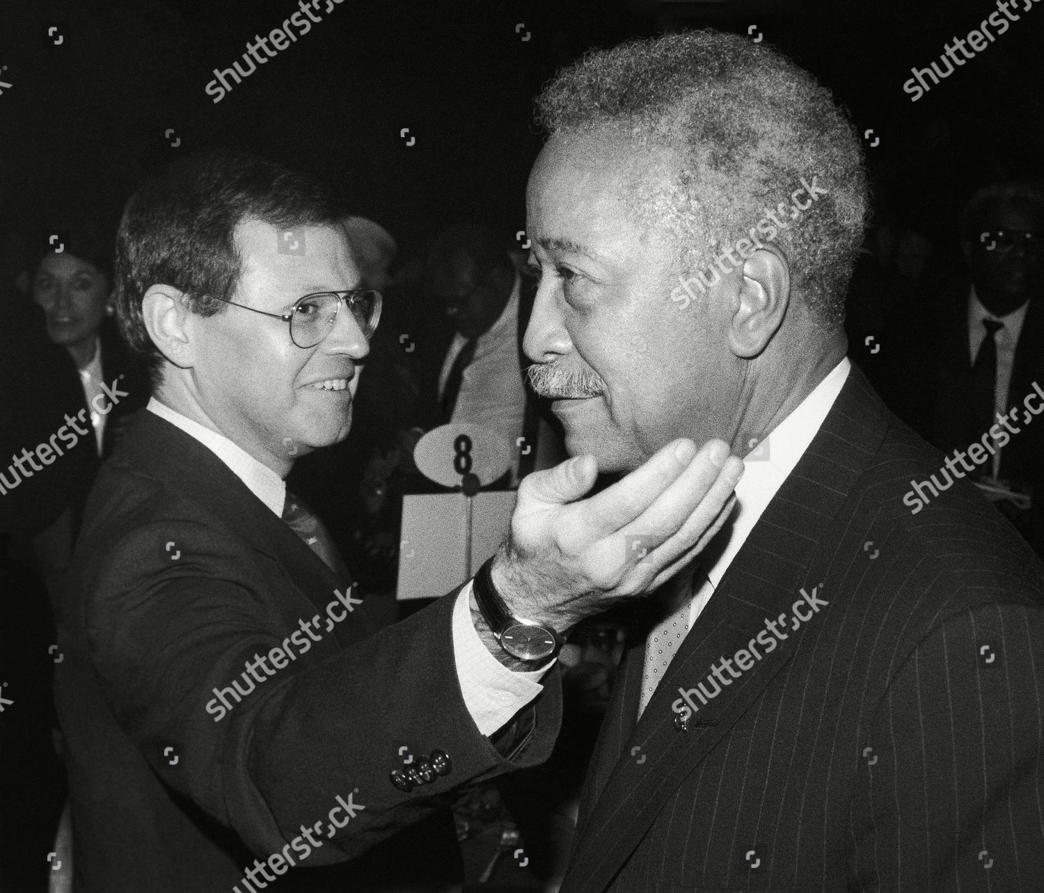 david dinkins mayorelect david dinkins given friendly editorial stock photo stock image shutterstock https www shutterstock com editorial image editorial david dinkins new york usa 6546490a