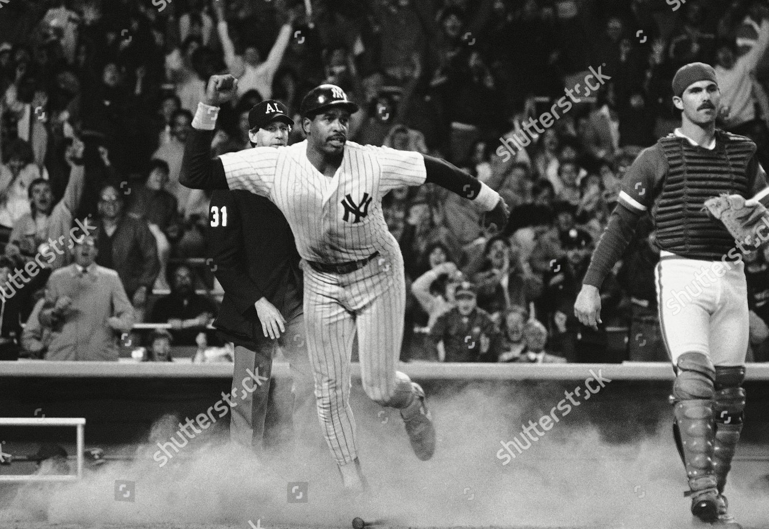 quality design 1030d 8957c Dave Winfield New York Yankees slides home Editorial Stock ...