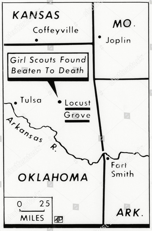 Grove Oklahoma Map.Map Locates Area Near Locust Grove Oklahoma Editorial Stock Photo
