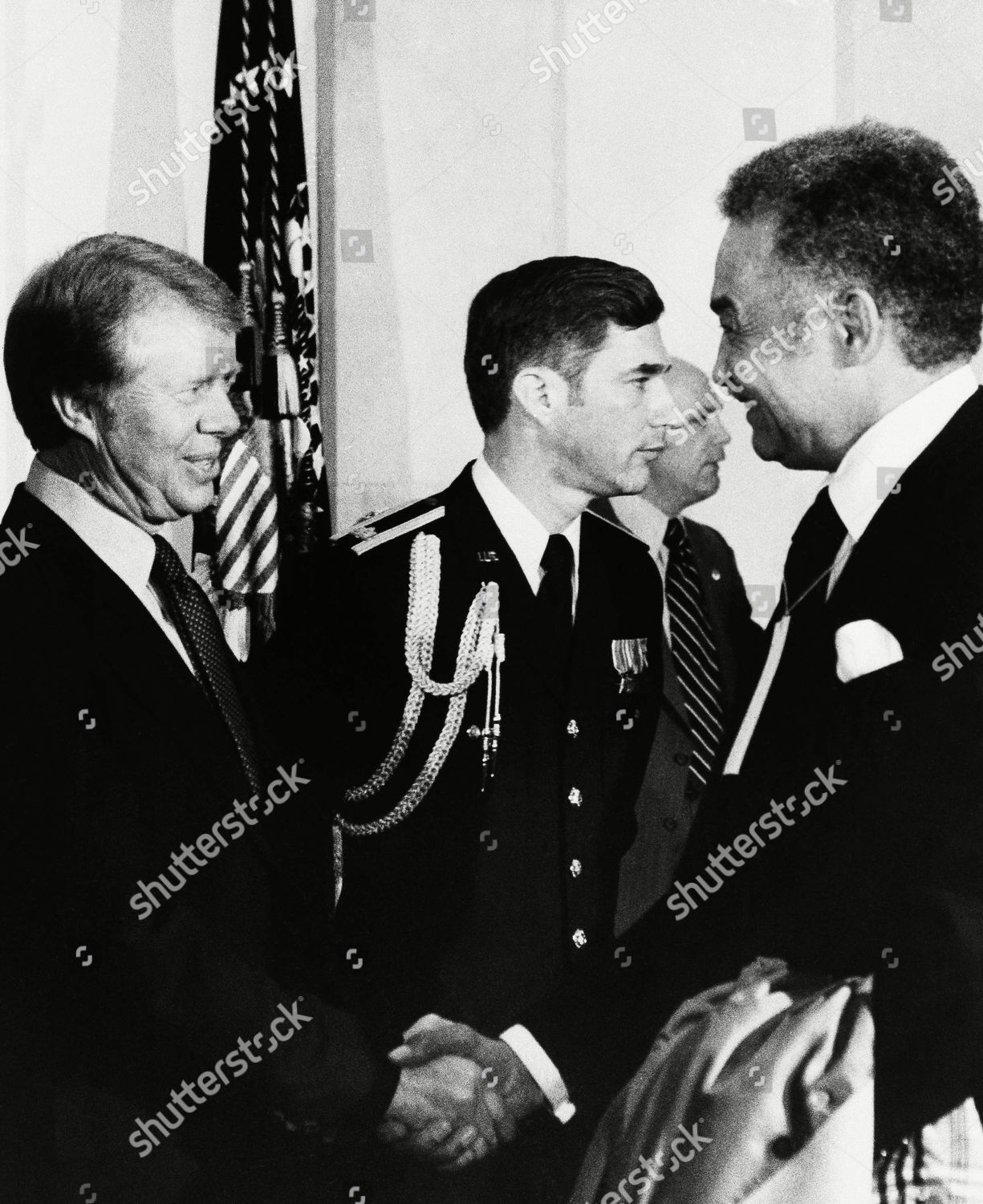 Pres Jimmy Carter Left Greets Detroit Mayor Editorial Stock Photo Stock Image Shutterstock