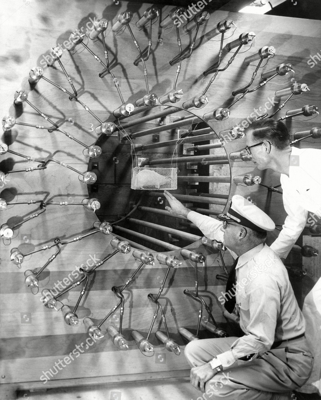 Capt R H Draeger left head atomic Editorial Stock Photo