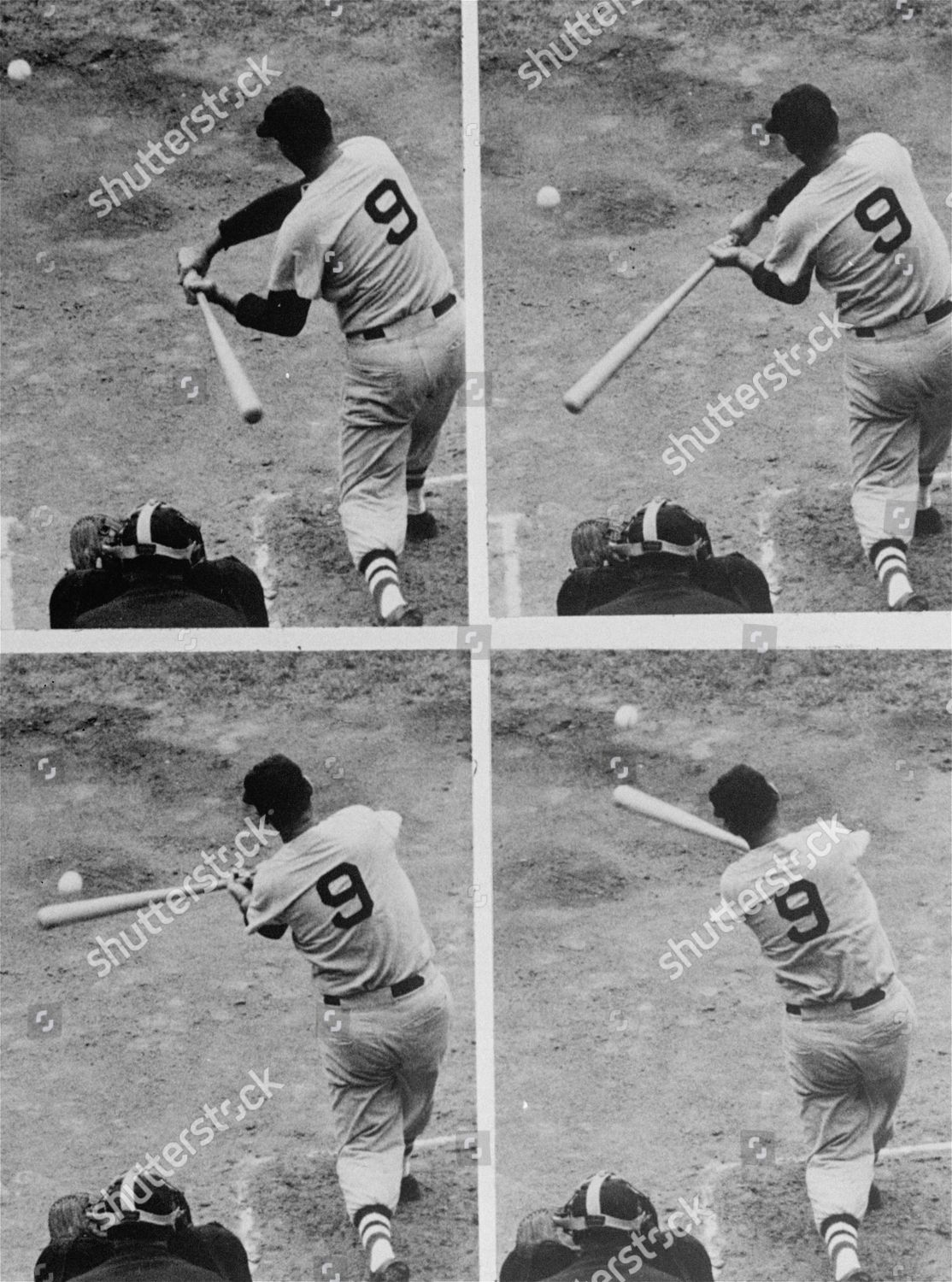Here Powerful Batting Swing Ted Williams Who Editorial Stock