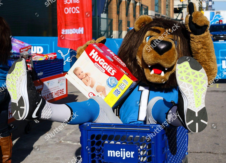 Detroit Lions Mascot Roary Raised Awareness Huggies