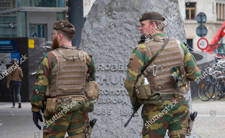 Belgian Army Load Bearing vest SIOEN ATLAS Belgium-eu-security-brussels-belgium-shutterstock-editorial-6674539a