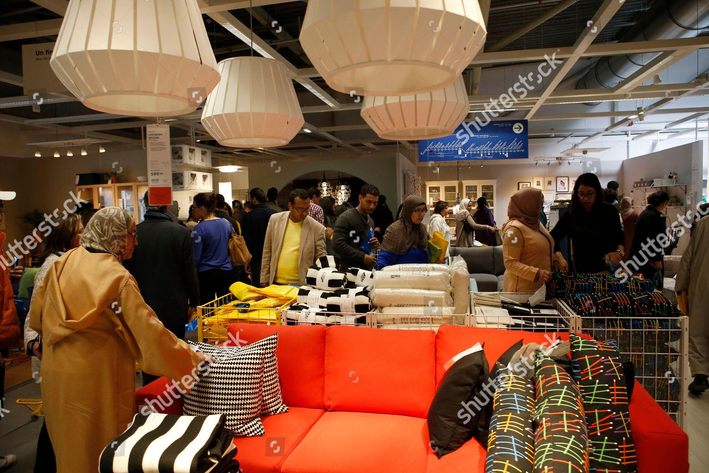 Moroccan Customers Shopping Ikea Furnishing Store Zenata Editorial